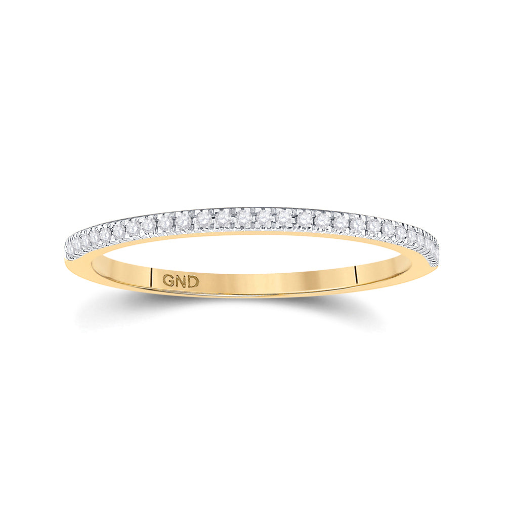 10kt Yellow Gold Round Diamond Oval Bridal Wedding Ring Band Set 1/3 Cttw