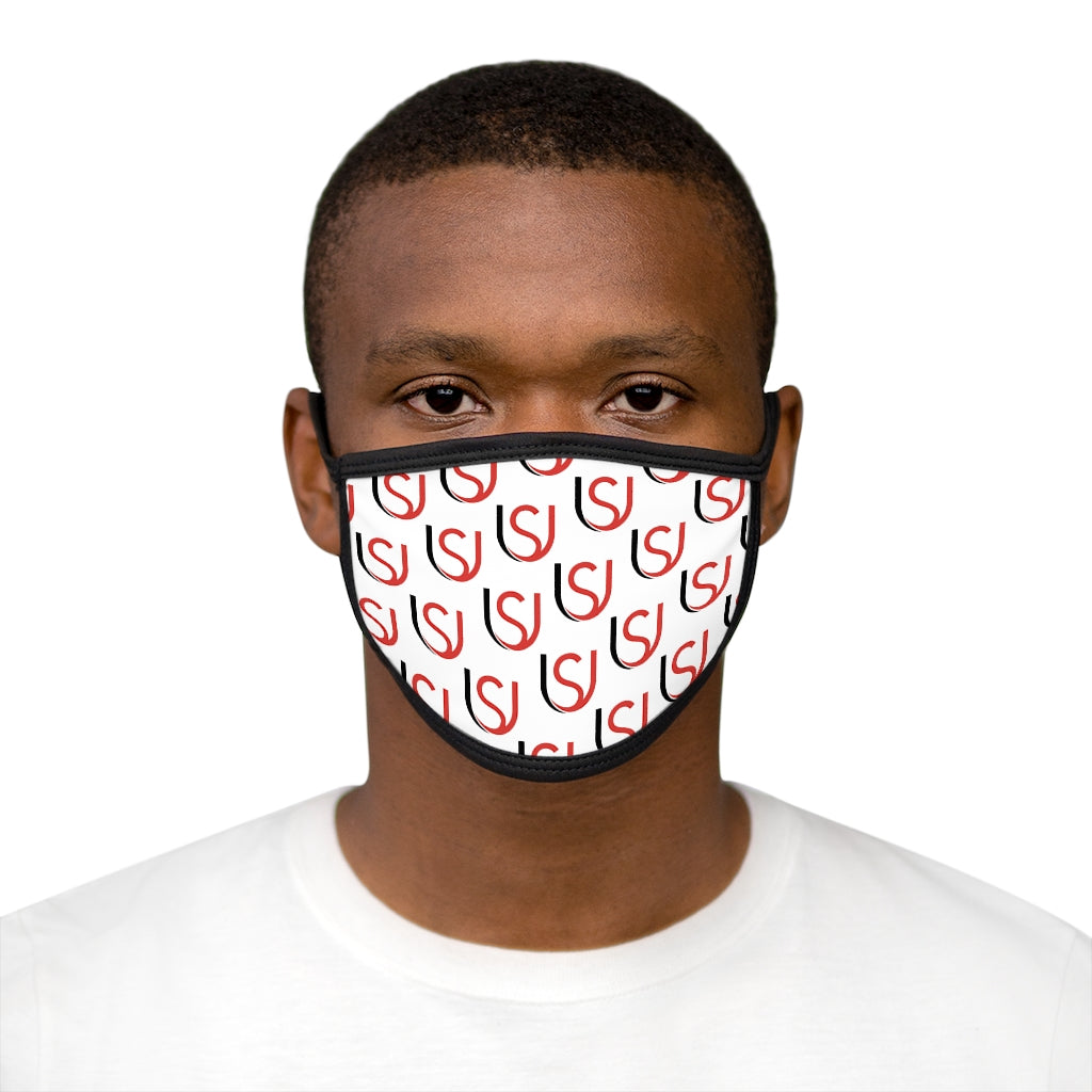 Mask Logo Repeat White