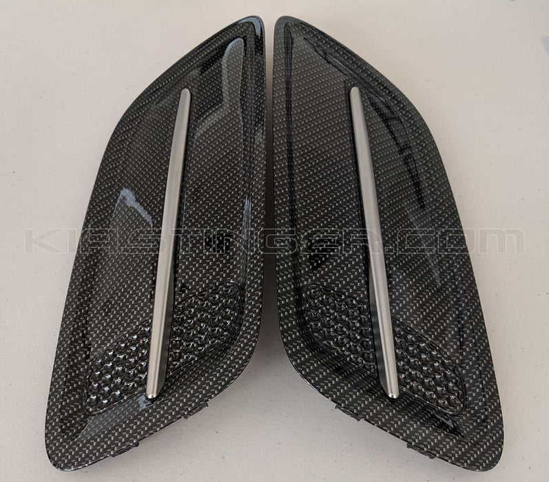 Carbon Fiber Style Hood Vents for 2018+ Kia Stinger