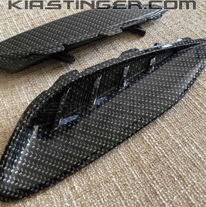 Carbon Fiber Style Rear Bumper Moldings for 2018+ Kia Stinger