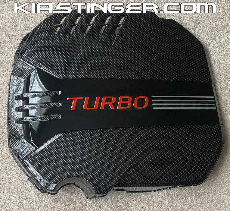 Carbon Fiber Style Engine Cover for 2018+ Kia Stinger V6 3.3TT