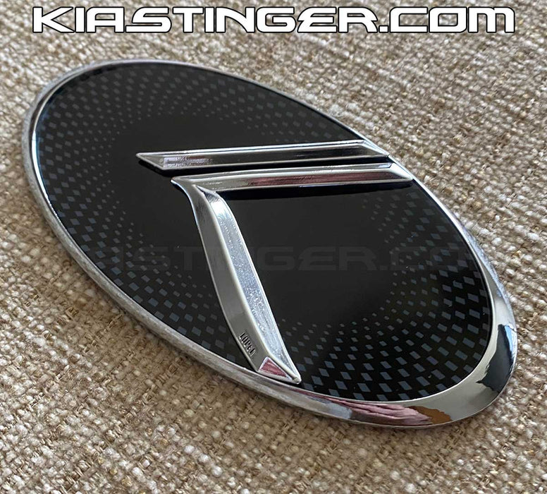 Vintage K Front or Rear Badges and Emblems (Checkered w/Chrome)
