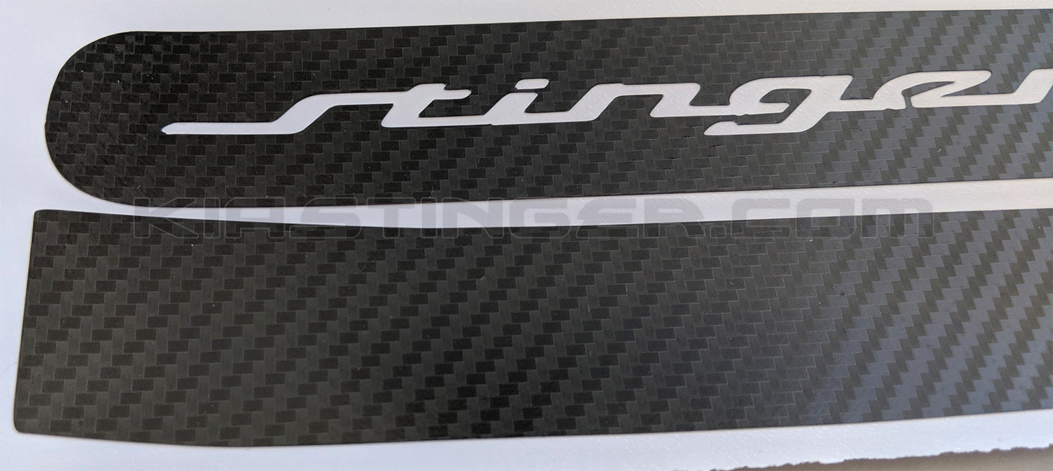 Rear Side Reflector Carbon Fiber Decals for KIA Stinger