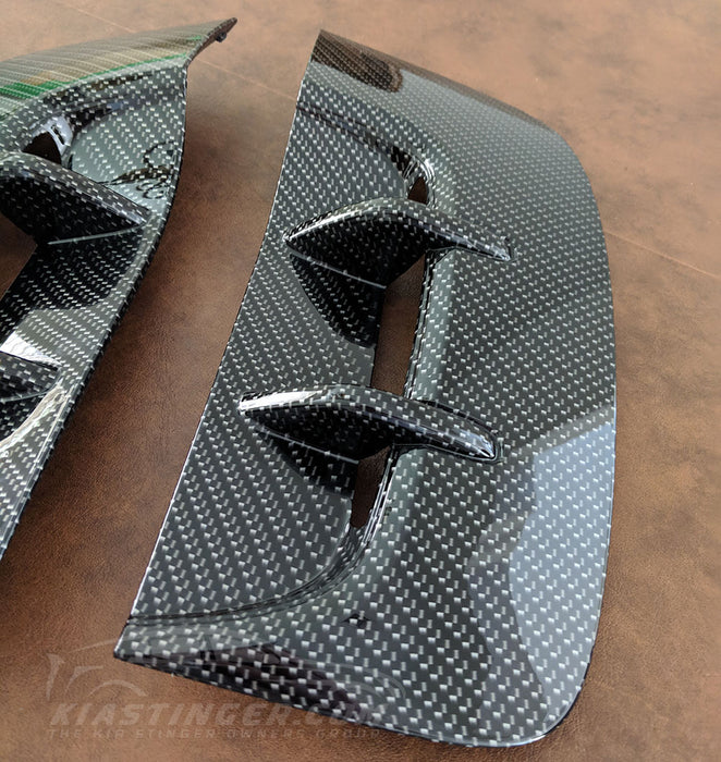 Carbon Fiber Style Fender Vents for Kia Stinger