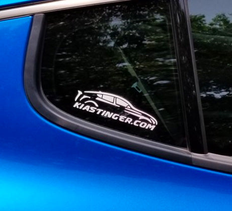Official KIA Stinger dot com decal