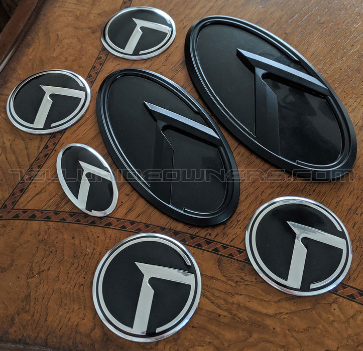 Kia 3.0 KLexus Emblem Set for all Kia vehicles (Black w/Black)