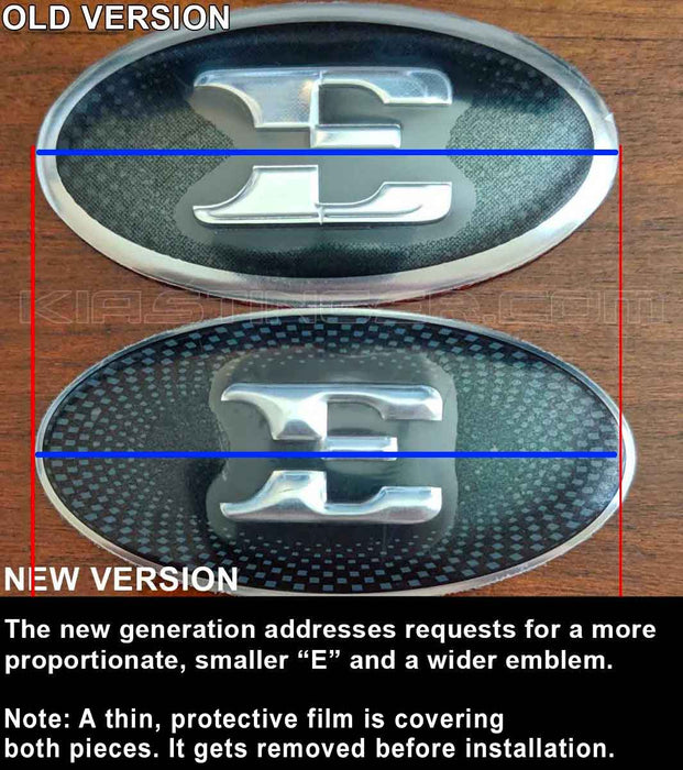 "OEM Style ""E"" Steering Wheel Emblem (New and Improved)"