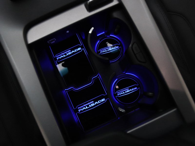 Hyundai Palisade LED-Lit Console Cup Holder 4 Piece Set