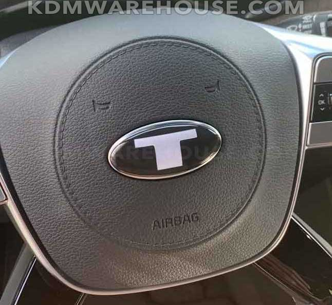 """Big T"" Steering Wheel Emblem Overlay for the KIA Telluride"