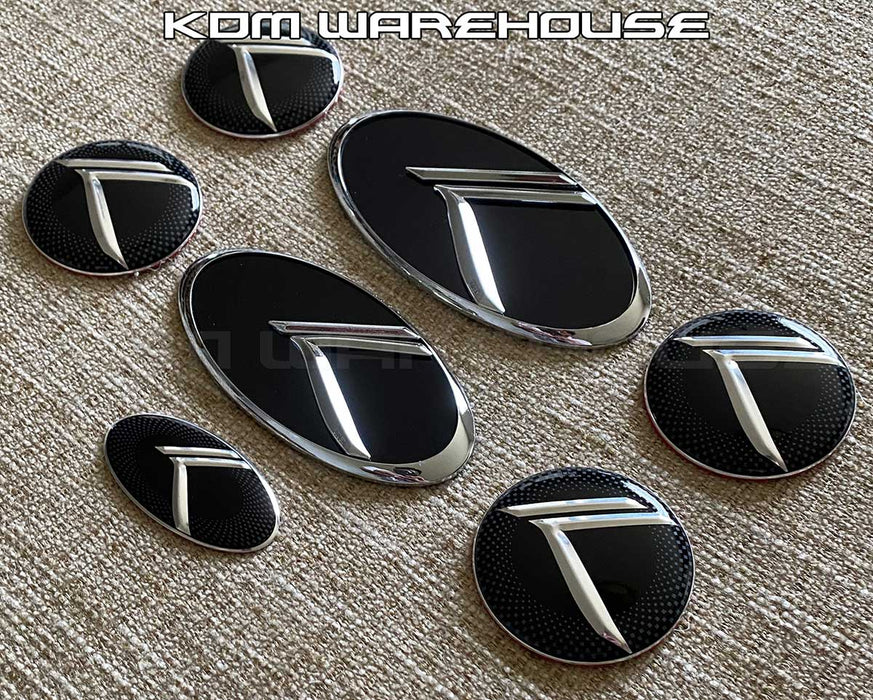 Vintage K Emblem Set for all Kia vehicles (Black w/Chrome)