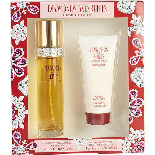 Diamonds & Rubies By Elizabeth Taylor Edt Spray 3.3 Oz & Body Lotion 3.3 Oz