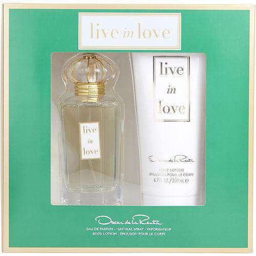 Oscar De La Renta Live In Love By Oscar De La Renta Eau De Parfum Spray 3.4 Oz & Body Lotion 6.7 Oz