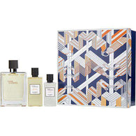 Terre D'hermes Edt Spray 3.3 Oz & Aftershave Lotion 1.35 Oz & Hair And Body Shower Gel 2.7 Oz