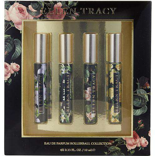 Ellen Tracy Variety By Ellen Tracy 4 Piece Mini Variety With Ellen Tracy Courageous & Ellen Tracy Inspiring & Ellen Tracy Radiant & Ellen Tracy Confident And All Are Eau De Parfum Rollerball .33 Oz Minis