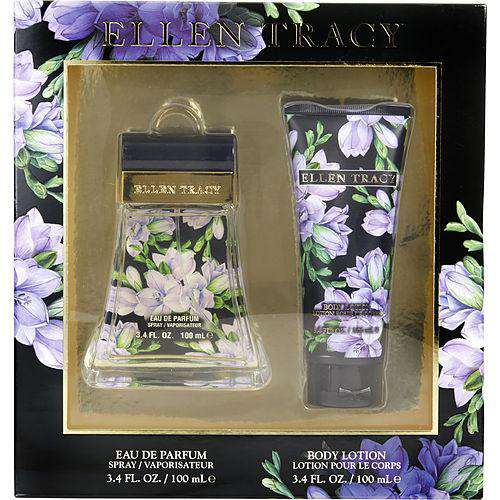 Ellen Tracy Radiant By Ellen Tracy Eau De Parfum Spray 3.4 Oz & Body Lotion 3.4 Oz
