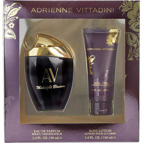 Av Midnight Blossom By Adrienne Vittadini Eau De Parfum Spray 3 Oz & Body Lotion 3.4 Oz