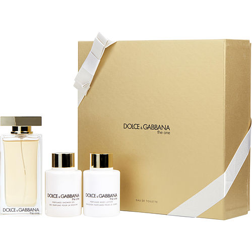 The One By Dolce & Gabbana Edt Spray 3.3 Oz & Body Lotion 3.3 Oz & Shower Gel 3.3 Oz