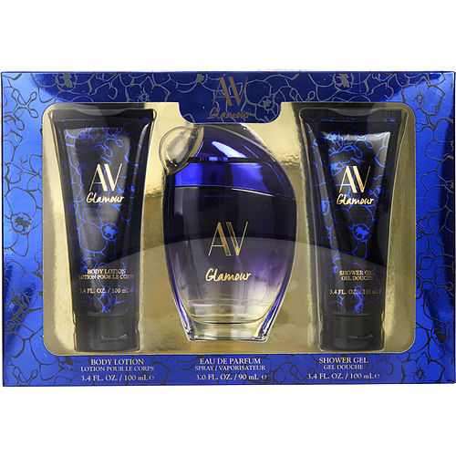 Av Glamour Passionate By Adrienne Vittadini Eau De Parfum Spray 3 Oz & Body Lotion 3.4 Oz & Shower Gel 3.4 Oz