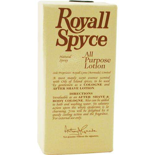 Royall Spyce By Royall Fragrances Aftershave Lotion Cologne Spray 4 Oz