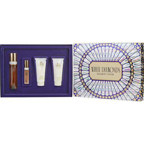 White Diamonds By Elizabeth Taylor Edt Spray 3.3 Oz & Eau De Parfum Spray .5 Oz & Body Cream 3.3 Oz & Body Wash 3.3 Oz