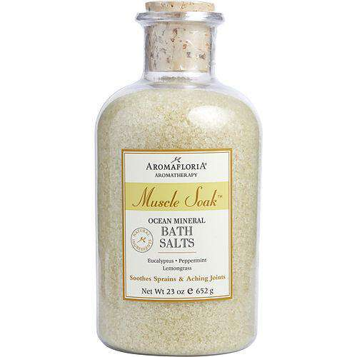 Muscle Soak By Aromafloria Ocean Mineral Bath Salts 23 Oz Eucalyptus, Peppermint, And Lemongrass