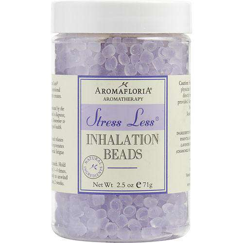 Stress Less By Aromafloria Inhalation Beads 2.5 Oz Blend Of Lavender, Chamomile, And Sage