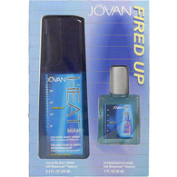 Jovan Heat Man By Jovan Fired Up Cologne Body Spray 8.4 Oz & Aftershave Cologne 2 Oz