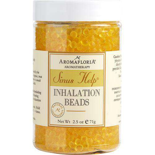 Sinus Help By Aromafloria Inhalation Beads 2.5 Oz Blend Of Eucalyptus, Peppermint, Lemongrass