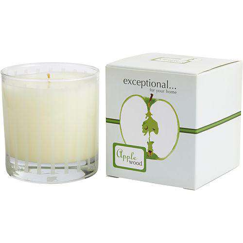 Apple Wood - Limited Edition By Exceptional Parfums Apple Wood Scented 6 Oz Tapered Glass Jar Candle.