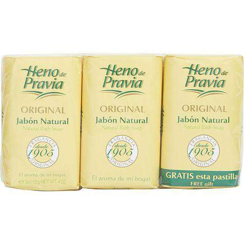 Heno De Pravia By Parfums Gal Set Of 2 Soaps Plus 1 Free And Each Is 4 Oz