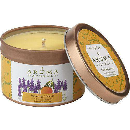 Relaxing Aromatherapy By Relaxing Aromatherapy One 2.5x1.75 Inch Tin Soy Aromatherapy Candle.  Combines The Essential Oils Of Lavender And Tangerine To Create A Fragrance That Reduces Stress...