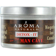 Detox-it Aromatherapy By  One 2.5x1.75 Inch Soy-beeswax Blend Aromatherapy Candle For The Man Cave. Rebalance Room Odors With Natural Beeswax, Sunflower, Soy & Rice Bran Wax.  Burns Approx. 15 Hrs.