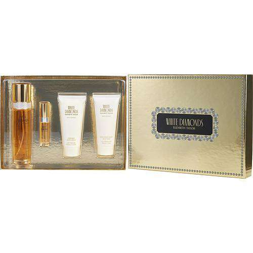 White Diamonds By Elizabeth Taylor Edt Spray 3.3 Oz & Body Lotion 3.3 Oz & Body Wash 3.3 Oz & Edt Spray .33 Oz Mini