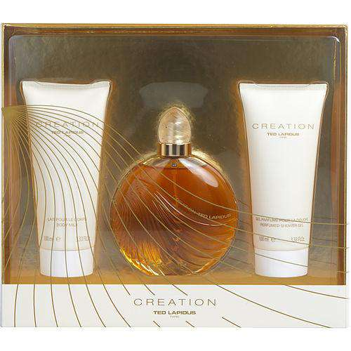 Creation By Ted Lapidus Edt Spray 3.3 Oz (new Packaging) & Body Milk 3.3 Oz & Shower Gel 3.3 Oz