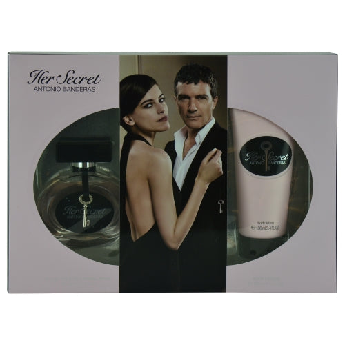 Her Secret By Antonio Banderas Edt Spray 2.7 Oz & Body Lotion 3.4 Oz