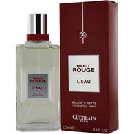Habit Rouge L'eau By Guerlain Edt Spray 3.3 Oz