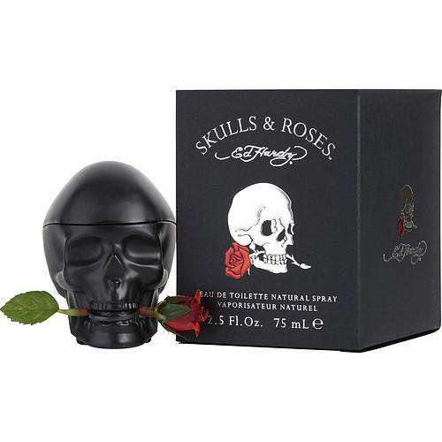 Ed Hardy Skulls & Roses By Christian Audigier Edt Spray 2.5 Oz