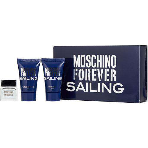 Moschino Forever Sailing By Moschino Edt .12 Oz Mini & Afterhave Balm .8 Oz & Shower Gel .8 Oz