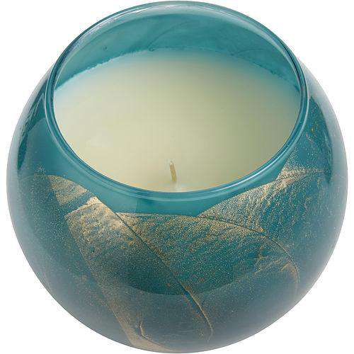 Turquoise Candle Globe  In A Satin Covered Gift Box...