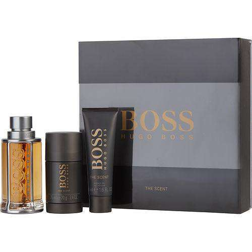 Boss The Scent By Hugo Boss Edt Spray 3.3 Oz & Deodorant Stick 2.4 Oz & Shower Gel 1.6 Oz