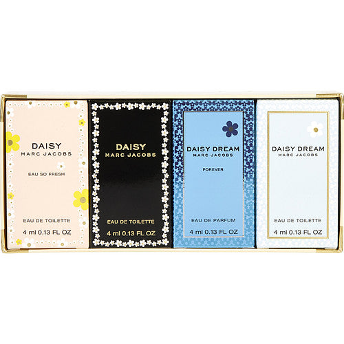 Marc Jacobs Daisy Variety 4 Piece Mini Variety With Daisy & Daisy Eau So Fresh & Daisy Dream Forever & Daisy Dream  .13 Oz