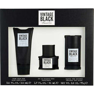Vintage Black By Kenneth Cole Edt Spray 1.7 Oz & Aftershave Balm 3.4 Oz & Deodorant Stick Alcohol Free 2.6 Oz
