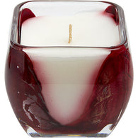 Mistletoe Red Cascade Candle By  The Inside Of This 4 Inch Glass Candle Is Painted With Wax To Create Swirls Of Gold And Rich Hues...