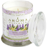 Serenity Aromatherapy By Serenity Aromatherapy One 3.7x4.5 Inch Medium Glass Pillar Soy Aromatherapy Candle...