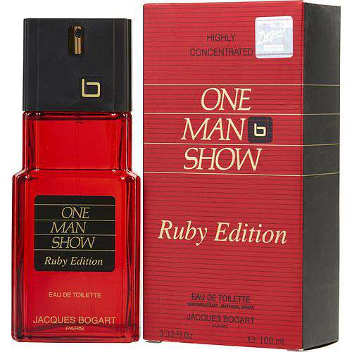 One Man Show Ruby By Jacques Bogart Edt Spray 3.3 Oz