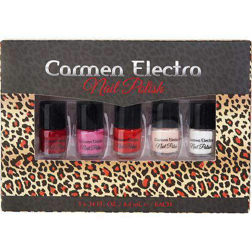 Carmen Electra By Carmen Electra 5pc Nail Polish Set- 0.14oz-4.4ml Each