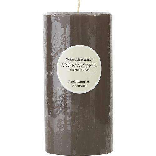 Sandalwood & Patchouli By  One 3x6 Inch Pillar Candle.  Burns Approx. 100 Hrs.