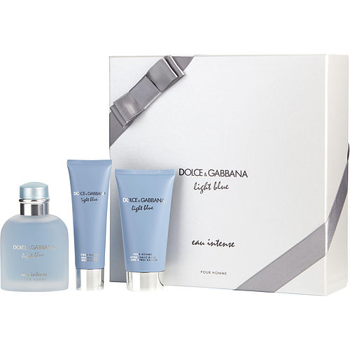 Light Blue Eau Intense Eau De Parfum Spray 3.3 Oz & Aftershave Balm 2.5 Oz & Shower Gel 1.6 Oz