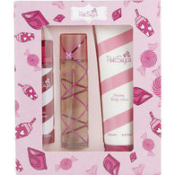 Pink Sugar By Aquolina Edt Spray 3.4 Oz & Hair Perfume Spray 3.3 Oz & Body Lotion 8.4 Oz