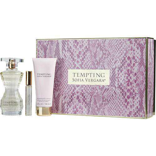Tempting By Sofia Vergara By Sofia Vergara Eau De Parfum Spray 3.4 Oz & Shimmer Body Lotion 3.4 Oz & Eau De Parfum Rollerball .33 Oz